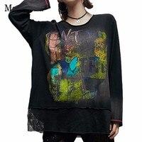 Max LuLu 2019 Fashion Japan Designer Ladies Sexy Mesh Tops Tee Womens Gothic T Shirts Printed Streetwear Female Oversized Tshirt