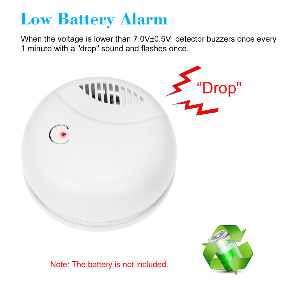 Fire Protection Dependable Standalone Photoelectric Smoke Alarm High Sensitive Wifi Alarm System Security Independent Smoke Detector Fire Protection Sensor