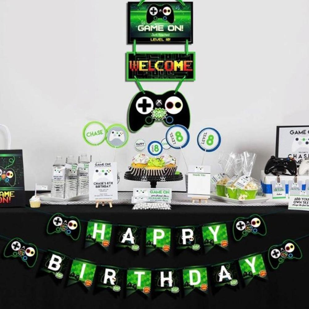 Party City Game Door: Game Theme Birthday Letter Banner Door Card Tag Video Game
