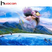Huacan Diamond Embroidery Hobby And Handicraft Rhinestones Painting Home Decoration Mosaic Picture Beading Gift
