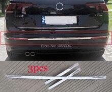 Para a europa versão 2016 2017 2018 2019 vw tiguan mk2 all around pacote borda estilo do carro amortecedor traseiro guarnição capa adesivo