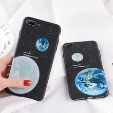 Phone Case For iPhone X XR XS Max Cartoon Planet Earth Star For iPhone 8 7 6 6S Plus 5 SE Starry Sky Soft TPU Back Cover Case стоимость