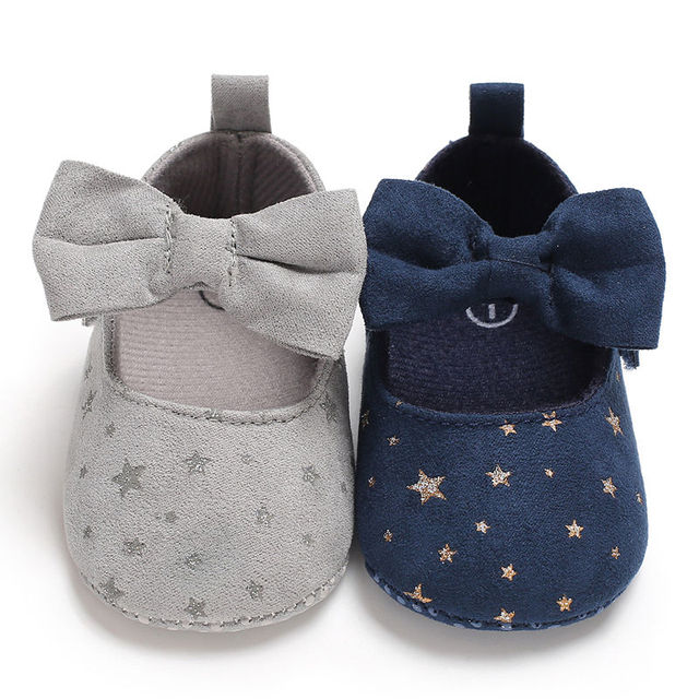 2019 New Autumn Fashion Infant Toddler Newborn Baby Girls Shoes Bow Printing Soft Crib Anti-slip Princess Shoes For Party 1