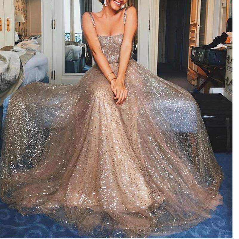 MUXU gold glitter sexy party long dress maxi robe femme summer clothes for women robe longue elegant ladies dresses ukraine 2019