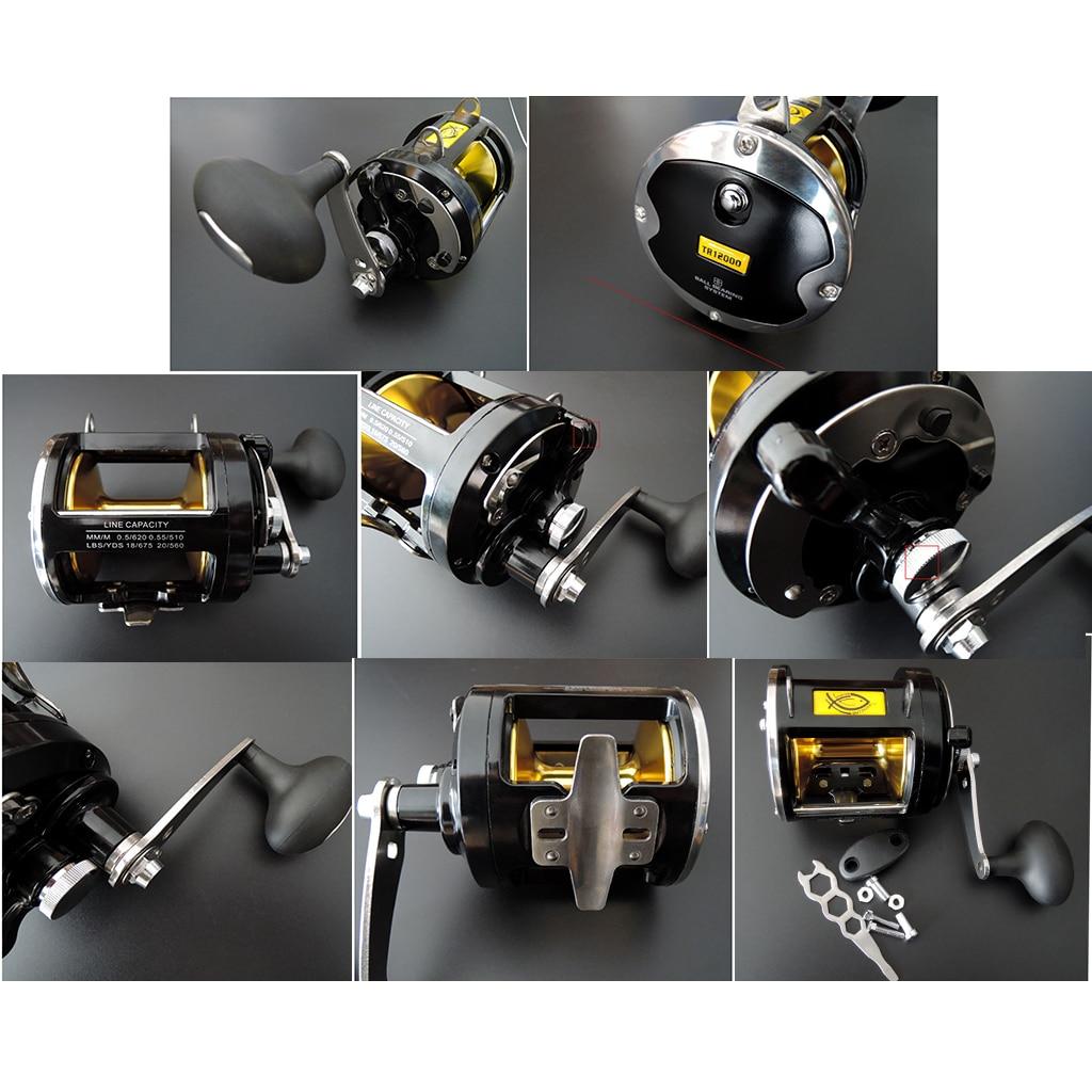 Big Game Fishing Reel Saltwater Casting Trolling Drum Reel Max Drag 25kg 55lbs 3 4 1