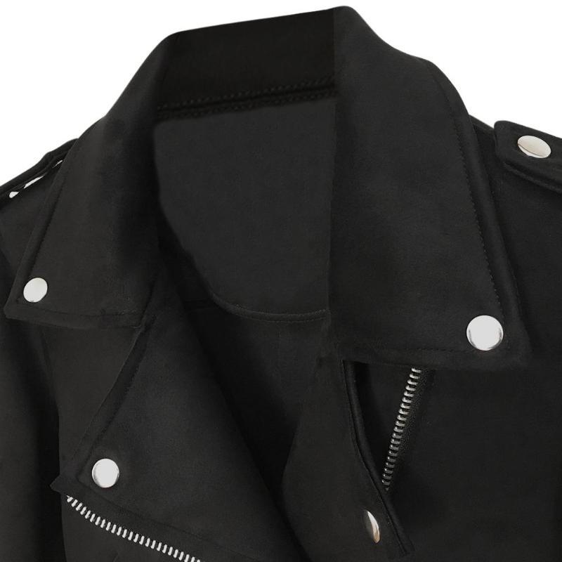 Black Street Winter Zipper Autumn Pu Basic Jackets Washed Color Women Women's Fashion Leather Jacket Ladies Short 7nISYnqw