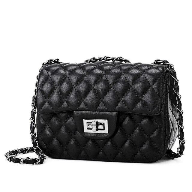 a4ace33f3531 Kajie Lattice Chain Pu Leather Luxury Handbags Women Bags Designer Famous  Brands Crossbody For Female Channel Girl Messenger Bag