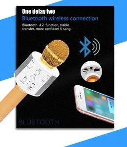 Image 4 - Neue WS858 Wireless Karaoke Bluetooth KTV HIFI Lautsprecher Echo Mischer Kondensator Mic Singen treffen Mikrofon Lautsprecher PK WS 858