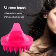 Head Massage Hair Scalp Massager Silicone Soft Massaging Shampoo Brush Comb Scalp Care Hair Cleaning Shower Cellulite Massager 4d smart head massager electric head scalp massager handheld shampoo hair brush promote blood circulation hair growth 4 heads