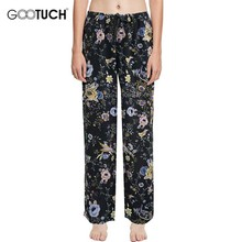 Sleep Bottoms For Women's Pajamas Pants Loose Lounge Pants Drawstring Trousers For Women Sleepwear Floral Print Home Pants 5357
