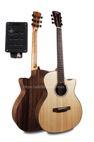 Joker 40 Cutaway Electric Guitars With 20mm cotton bag,Solid Spruce Top/Rosewood Body guitarra eletrica With LCD Pickup