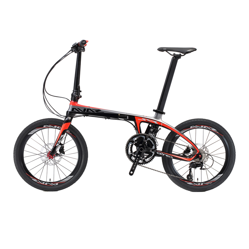 Sava Folding Bike 20 Inch Folding Bicycle Foldable Carbon Folding Bike 20 Inch With Shimano 105 22 Speed Mini Compact City Bike