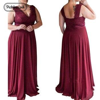 Large Size Dress Summer Solid Color Lace Dress Female Elegant Sleeveless Slim Party Chiffon Plus Size Dress Women Vestidos5xlD40 цена 2017