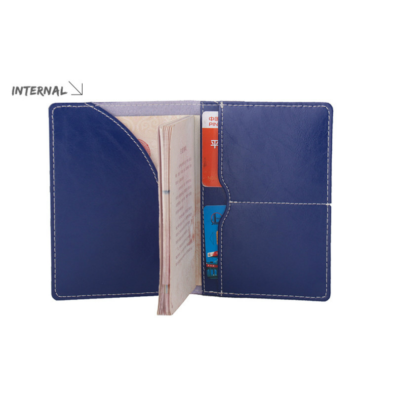 2018 Travel Solid Business Real Genuine Leather Passport Cover Unisex Passports Credit Card Holder Case Driver License Wallet
