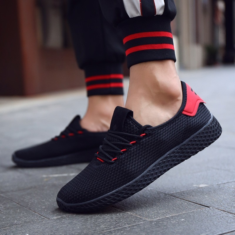 Men's Casual Shoes 2019 Fashion Trendy Mens Shoes Comfortable Light Breathable Mens Sneakers Run Increase Lace-up Non-slip Mens Casual Shoes