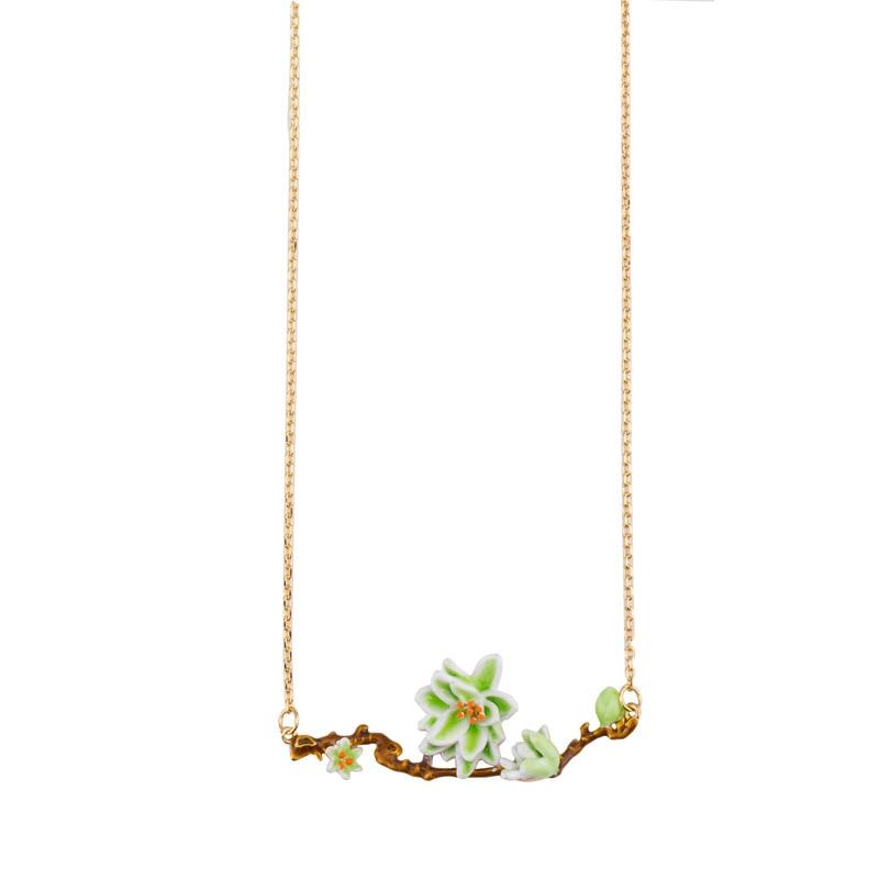 99 carat émail forêt est une belle et élégante accessoire Collier tempérament clavicule chaîne femme Livraison Gratuite