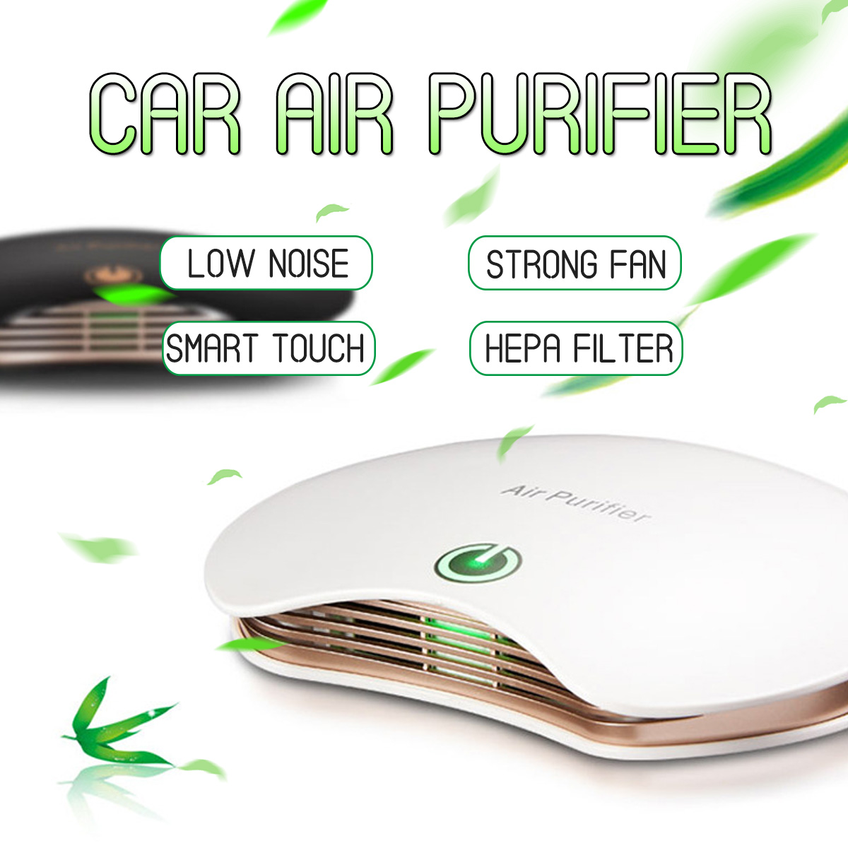 PM2.5 Formaldehyde Smell Removal Car Air Purifier Anion Car Air Ionizer Household Sterilize  with Auto Air Freshener Accessories