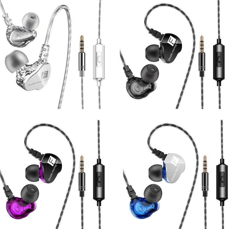 Double moving subwoofer mobile phone headset HiFi calling