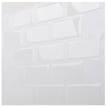 Wall kitchen sticker Tiles - Premium Anti Mold Peel and Stick Tile in Subway White (10 pack)