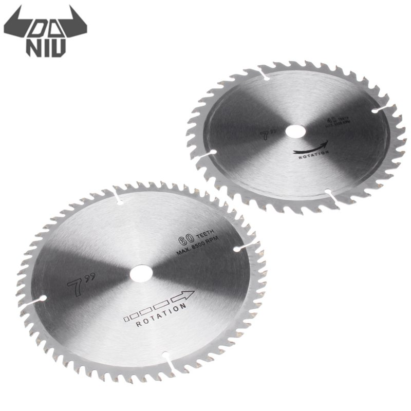 DANIU 2Pcs 180mm Circular Wood Saw Blade 40 And 60 Teeth Disc For Woodworking Cutting Tool Cemented Carbide Material
