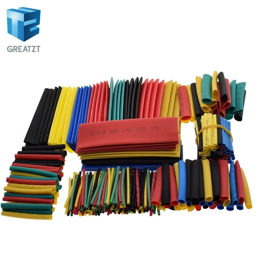 328pcs Heat Shrink Tubing Insulation Shrinkable Tube Assortment 2:1 Heat Shrink Tubing Colorful Wrap Wire Cable Sleeve DIY Kit