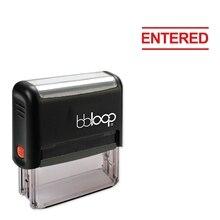 Bbloop введен w/text с блочным пространством ниже стиля шрифт и дизайн Self-Ink