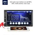 Автомобильная стереосистема с Bluetooth, GPS-навигация, двойной Din в тире, 7 дюймов, автомобильная аудиосистема, двойной Din в тире, автомобильный MP5 ...