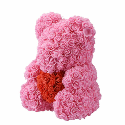 40cm Rose Bear Flower Teddy Toy Gift Set For Valentine/'s Day New