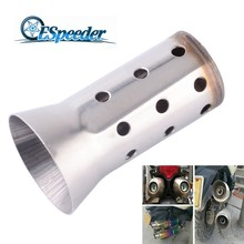ESPEEDER Universal 51mm Motorcycle Exhaust Muffler Racing Street Bike Scooter Adjustable Silencer DB Killer For Honda