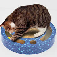 Cat Mat Scratch Board Interactive Corrugated Paper Bed with Ball Cat Toy Pet Furniture Cardboard Scratcher Kitten House Supply