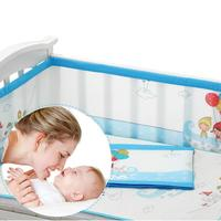 Breathable Mesh Bumper Crib Liner Baby Bedding Washable Pink, Brown,Blue