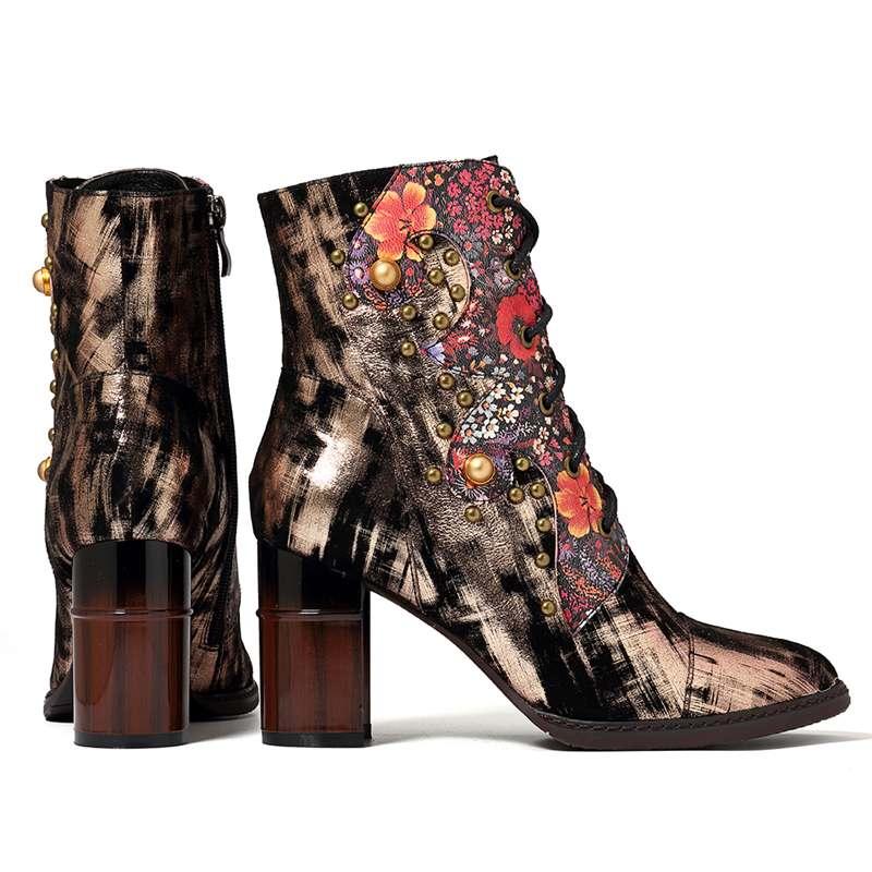 Caviglia In Rose Di Vintage Donna Della Nuovo Glod Pelle Da Retro rdr7wEaq