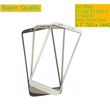 10Pcs/lot For Motorola G6 Play XT1922 XT1922-3 XT1922-4 Touch Screen Front Outer Glass Panel Lens G6Play NO LCD Display 5.7