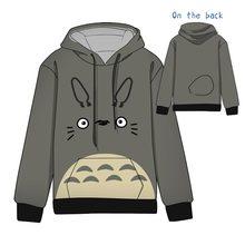 Hot  Anime My Neighbor Totoro  Cotton  Cosplay Hoodies Standard Hooded   Winter  Tops Unisex  funny Sweatshirts цена в Москве и Питере