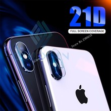 2PCS 21D Lens Screen Protector For iPhone XS Max XR X 10 Back Camera Tempered Glass 8 7 6s Plus Protective Film