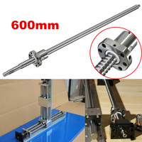 New Ball Screw SFU1605 L600mm Ballscrew With SFU1605 Single Ballnut for End Machined CNC