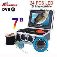 """Syanspan """" монитор 15 Вт, 30 Вт, 50 м Fish finder Камера HD 1000TVL подводная лед рыбалка видео Камера Комплект 24 инфракрасных светодиодных ламп"""
