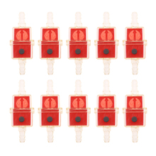 10pce Universal Petrol Inline Fuel Filter LARGE Car Part Fit 6mm Pipes Red High-Quality