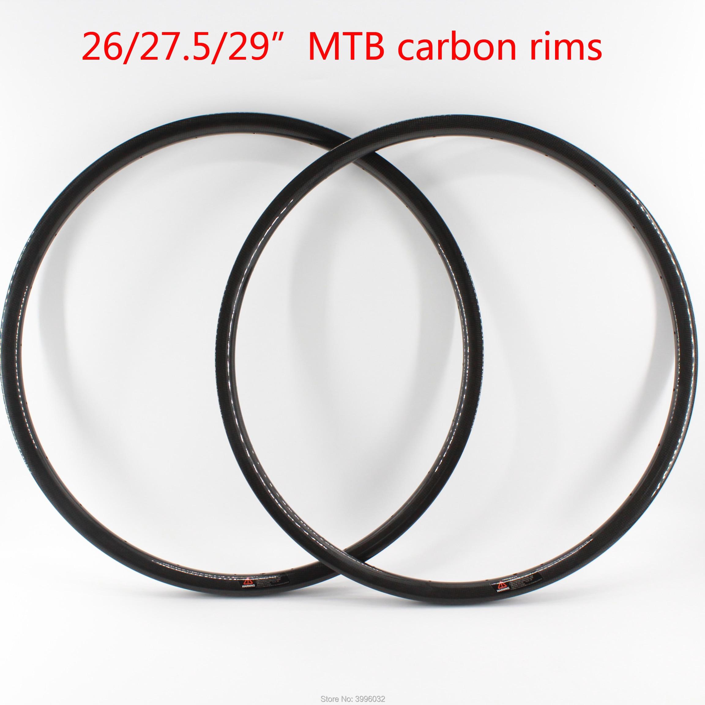 Nouveau 26/27. 5/29er pouces VTT 3K UD 12K pleine fibre de carbone vélo roues carbone pneu tubeless jantes vtt livraison gratuite