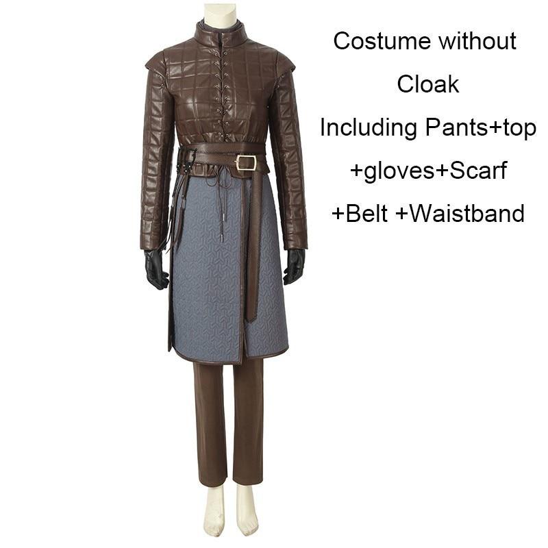 Game Of Thrones 8 Arya Stark Costume Cosplay Halloween Carnival Only Cloak