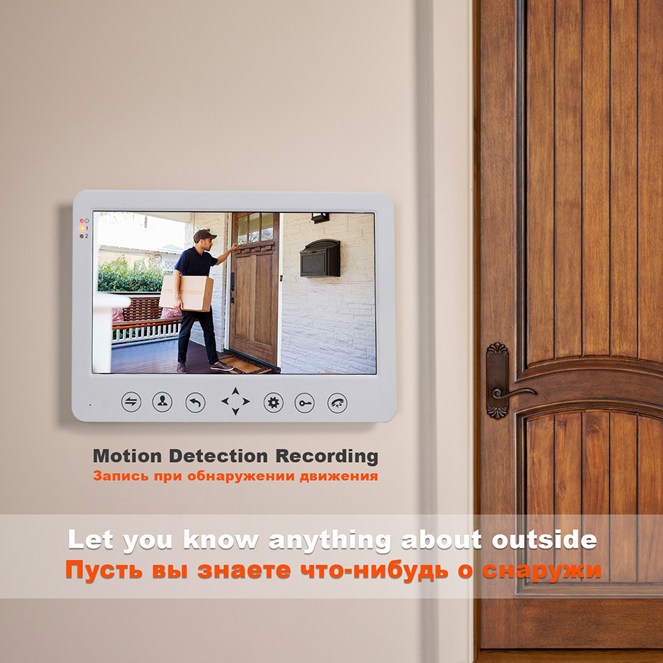 Image 2 - HomeFong Video Door Phone Wired Video Intercom for Home 10 inch Monitor Doorbell Camera Support Motion Detect Record/CCTV Camera-in Video Intercom from Security & Protection