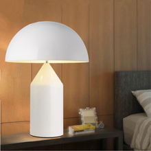 купить Nordic White Mushroom Desk Lamps Lights Led Iron Table Lights Living Room Bedroom Bedside Study Lighting Luminaire Luminaria по цене 6579.55 рублей