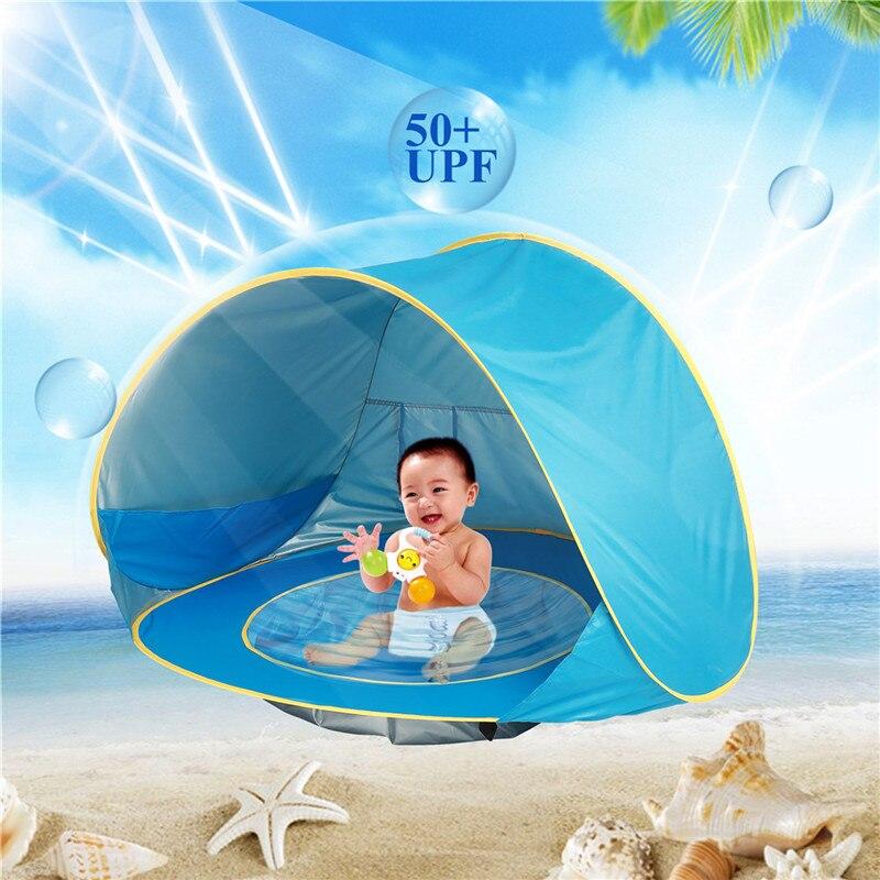 Portable Pop Up tente ultra-léger pliant bébé plage jouet tente Anti-UV entièrement soleil ombre enfant piscine extérieure Camping tente