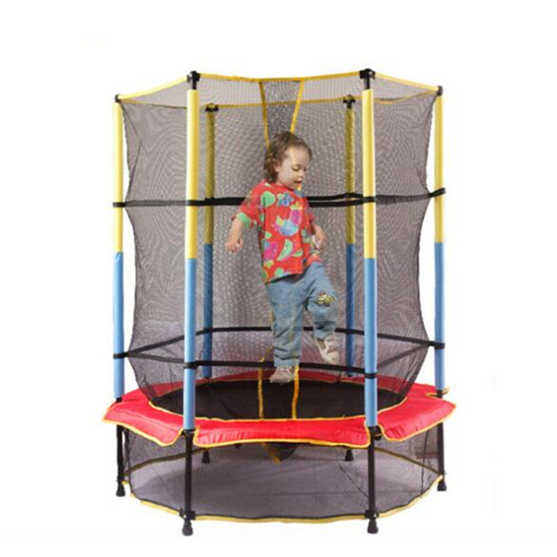 160140cm 45ft Children Trampoline With Safety Net Enclosure Indoor Outdoor Kids Sport Fitness Activity Equipment In Trampolines From Sports
