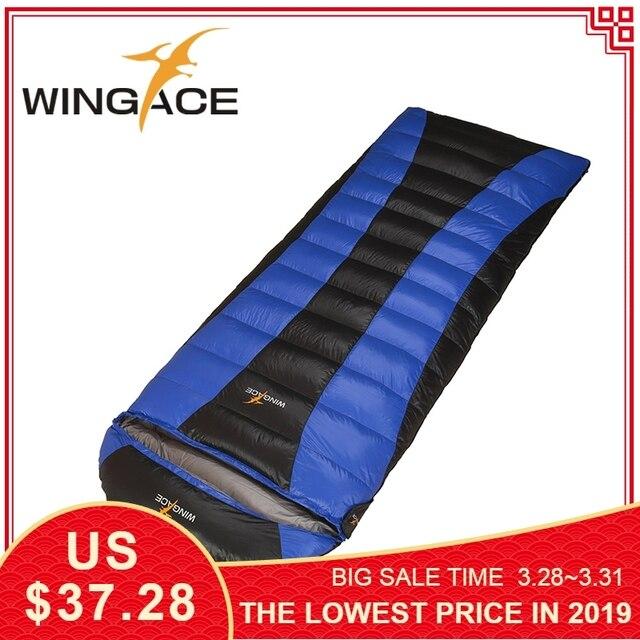 WINGACE Fill 600G 1000G down Ultralight outdoor hiking tourists camping adult Sleeping bag Envelope goose down sleeping bag