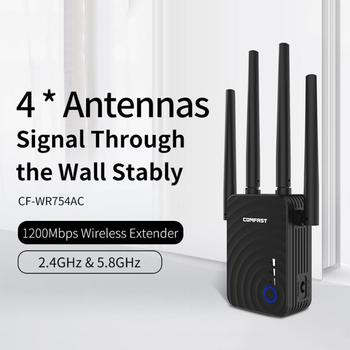 COMFAST CF-WR754 Wireless WiFi Repeater Range Extender 1200Mbps Dual Band WiFi Signal Amplifier Booster WiFi Repeater Promotion