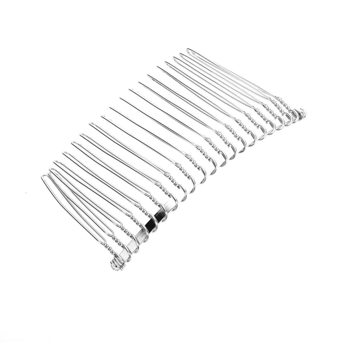 3 stücke 7,8 cm 20 Zähne Phantasie DIY Metall Draht Haar Clip Kämme Braut Hochzeit Schleier Kämme
