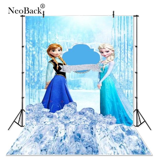 Thin Vinyl Frozen ice queen Elsa princess Anna children baby Photography studio Backgrounds professional indoor Photo Backdrops