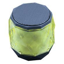 Speaker portátil Sem Fio Bluetooth Mini Player Pequeno Diamante Forma Subwoofer Estéreo Hd Soa Música Dispositivos Ao Redor Em Casa