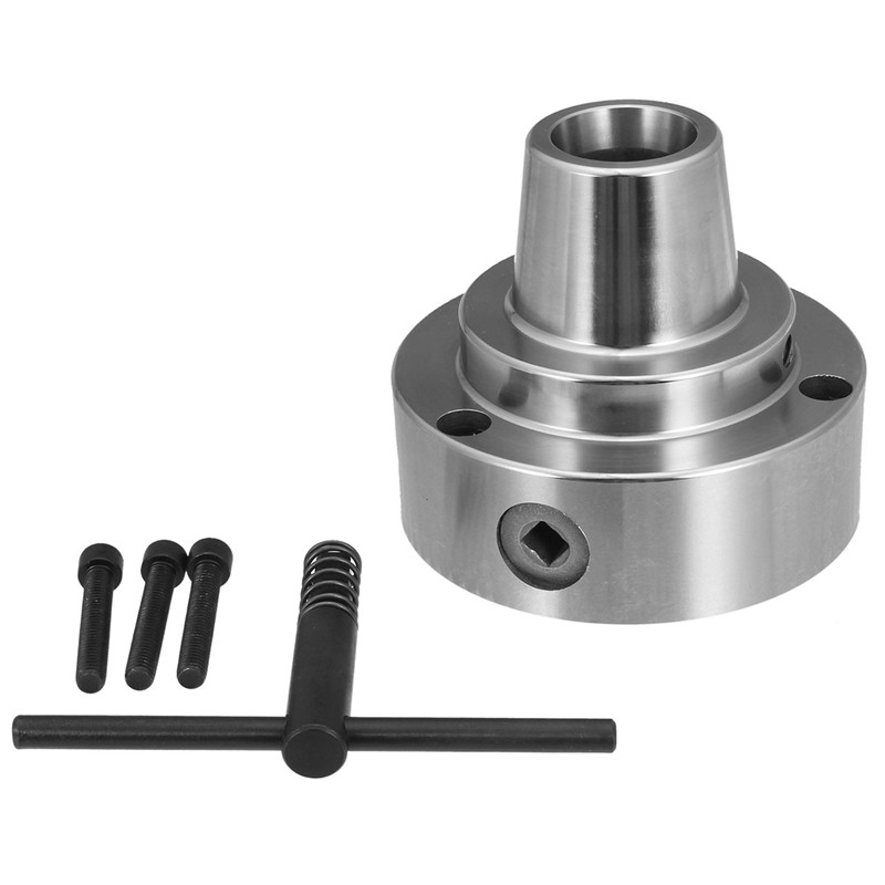 5 5C Collet Chuck Plain Back Lathe Clip Machine High-accuracy Workpiece Tool With 3 Screws Torsion Head Tools